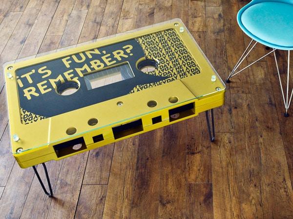 casettebandje-tafel