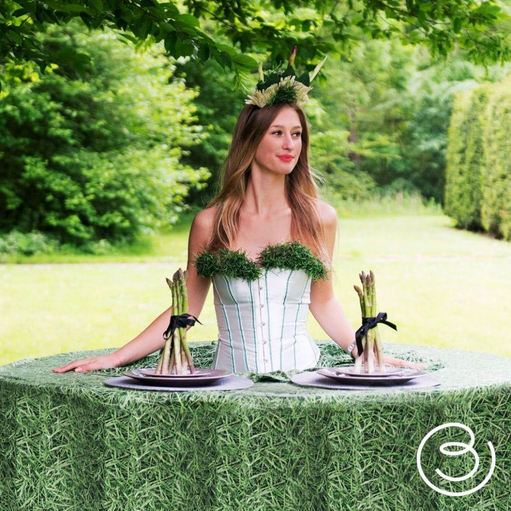 Hostes groene jurk