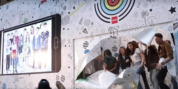 Origineel presentatiescherm Hema Vlog Academy