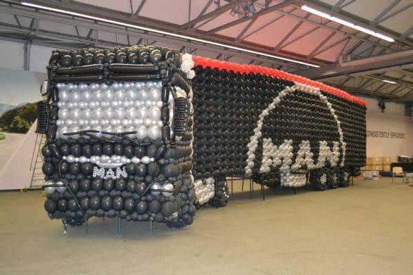 Balloncreatie vrachtwagen