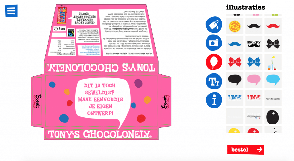 Tony Chocolony met EventGoodies ontwerp
