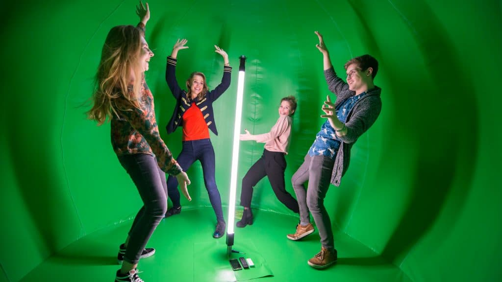 360 graden photobooth green screen