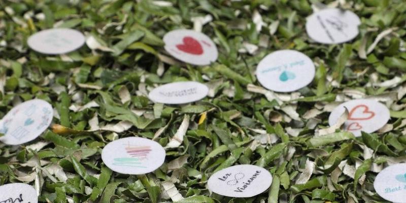 Bladconfetti: confetti van blaadjes