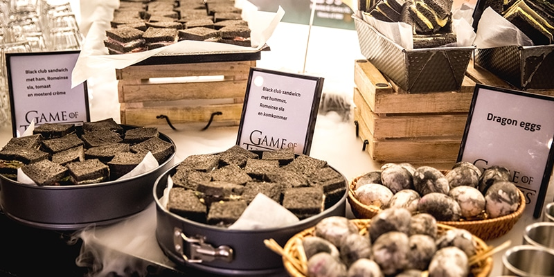 Catering in het thema van Game Of Thrones