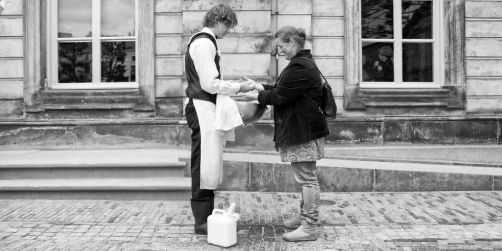 De Wasman wast handen op events