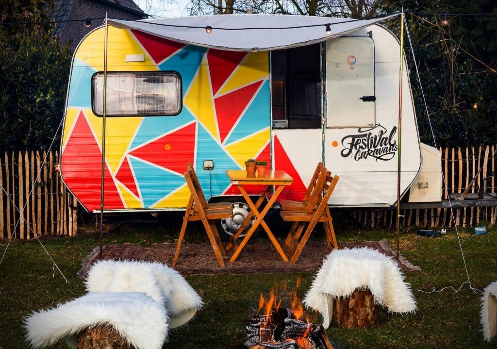 Festival caravan huren