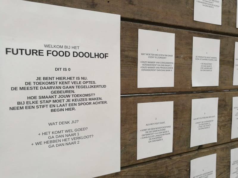 Future Food Doolhof: scenarios