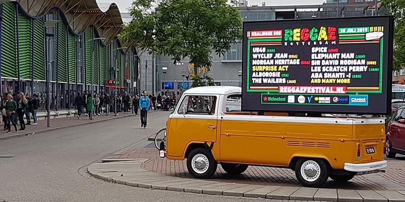LED-scherm bus