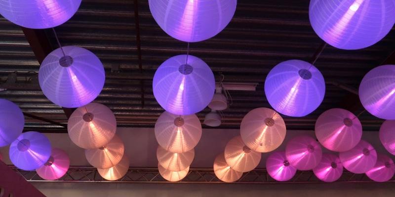 lampionen met led-verlichting