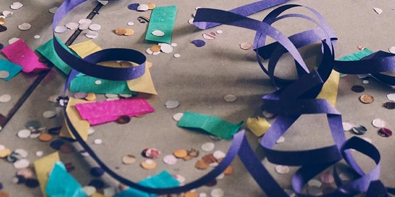 Milieuvriendelijke ballonnen, glitters en confetti