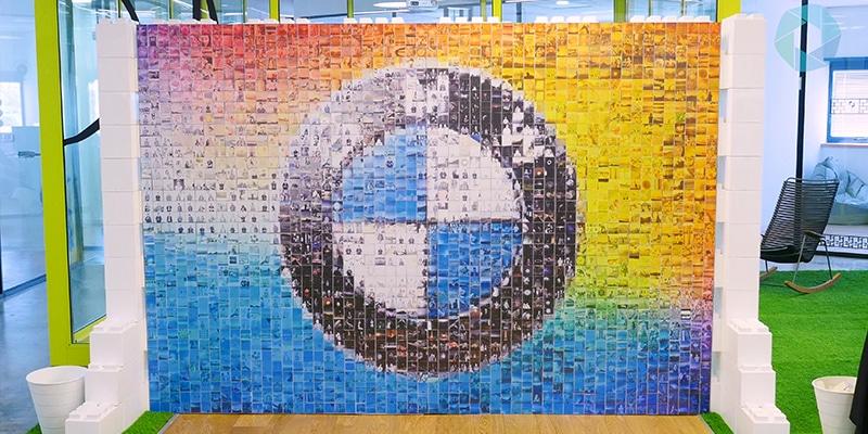 Mozaiek met foto's
