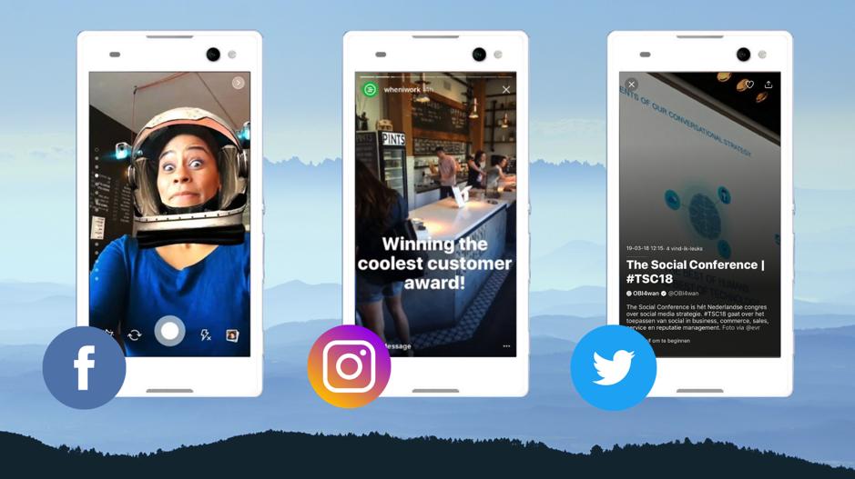 Social media voorbeelden