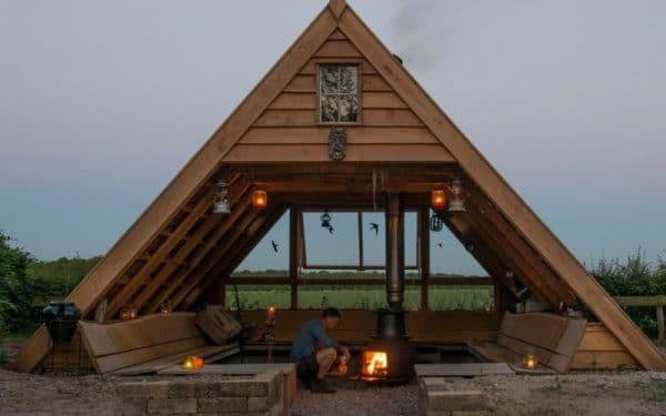Vergaderen in een hutje in de natuur